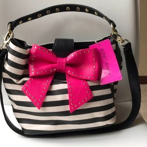 Betsey Johnson Pink Bow Handbag